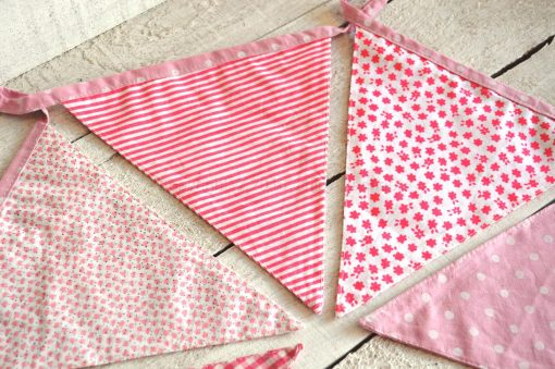 Pink Baby Girl Fabric Bunting 2