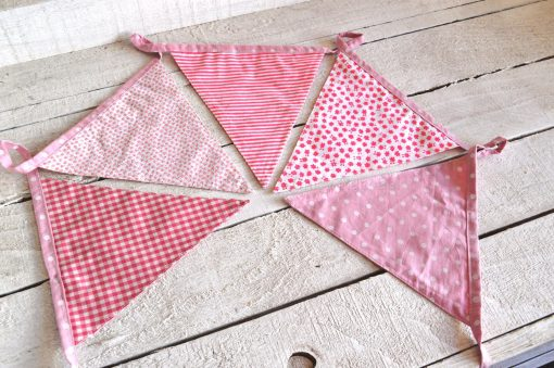Pink Baby Girl Fabric Bunting 3