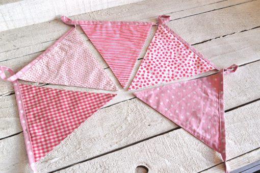 Pink Baby Girl Fabric Bunting 3