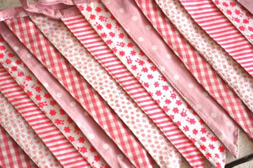 Pink Baby Girl Fabric Bunting 1