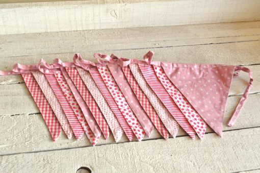 Pink Baby Girl Fabric Bunting