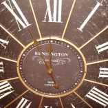 Large Black Antique Kensington Station Wall Clock 2