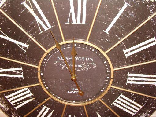 Large Black Antique Kensington Station Wall Clock 2