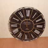 Large Black Antique Kensington Station Wall Clock