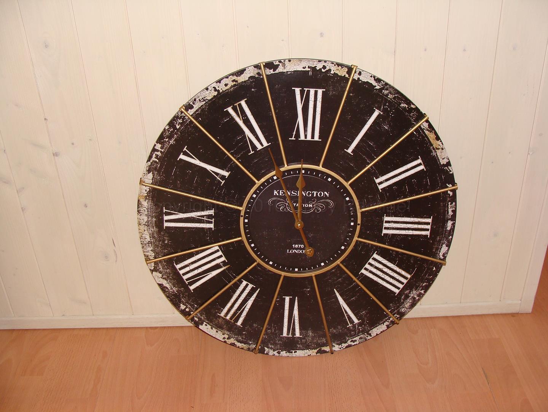 Large Black Antique Kensington Station Wall Clock