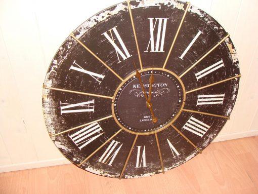Large Black Antique Kensington Station Wall Clock 3