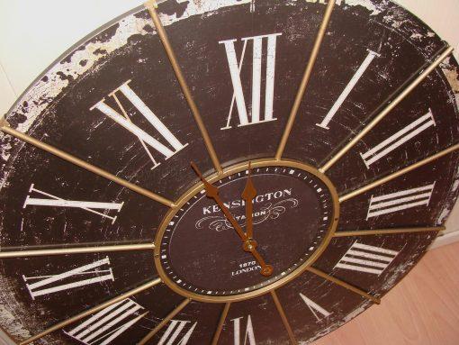 Large Black Antique Kensington Station Wall Clock 1