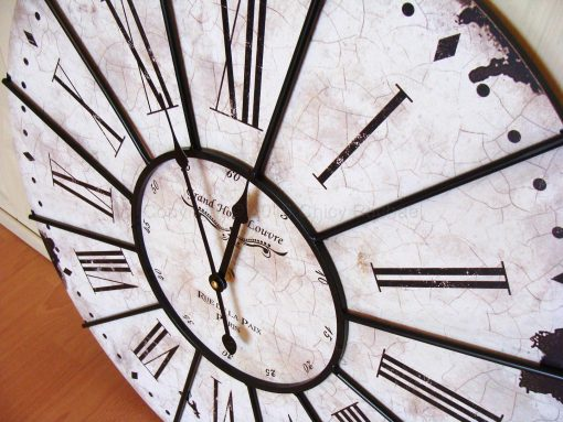 Large White Grand Hotel Wall Clock 2