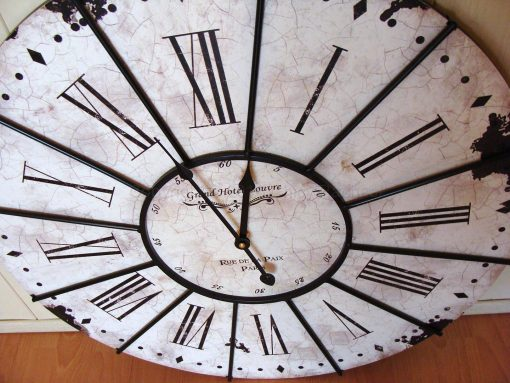 Large White Grand Hotel Wall Clock 1