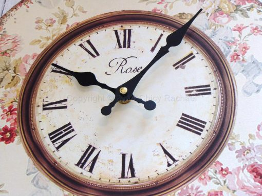 Pink Floral Wall Clock 1