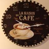 French Café Wall Clock 3