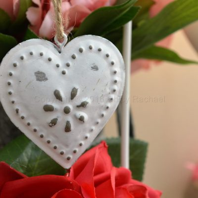 Embossed Vintage Heart Decoration