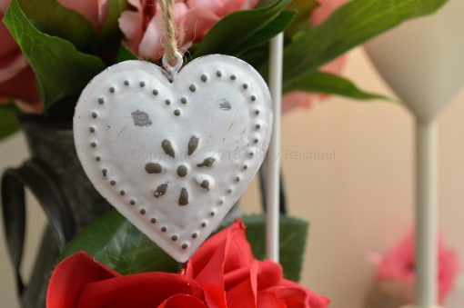 Embossed Vintage Heart Decoration