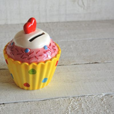 Heart Fairy Cup Cake Moneybox