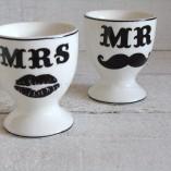 Mr & Mrs Egg Cups