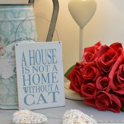 A House Is Not A Home Without A Cat Small Sign