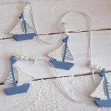 Blue And White Sail Boat Garland 3