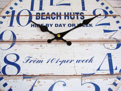 Beach Huts For Hire Small Wall Clock 3