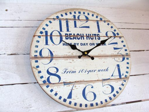 Beach Huts For Hire Small Wall Clock 1