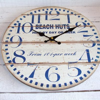 Beach Huts For Hire Small Wall Clock