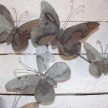 Grey Metal Butterfly Wall Art 2
