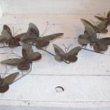 Grey Metal Butterfly Wall Art 1