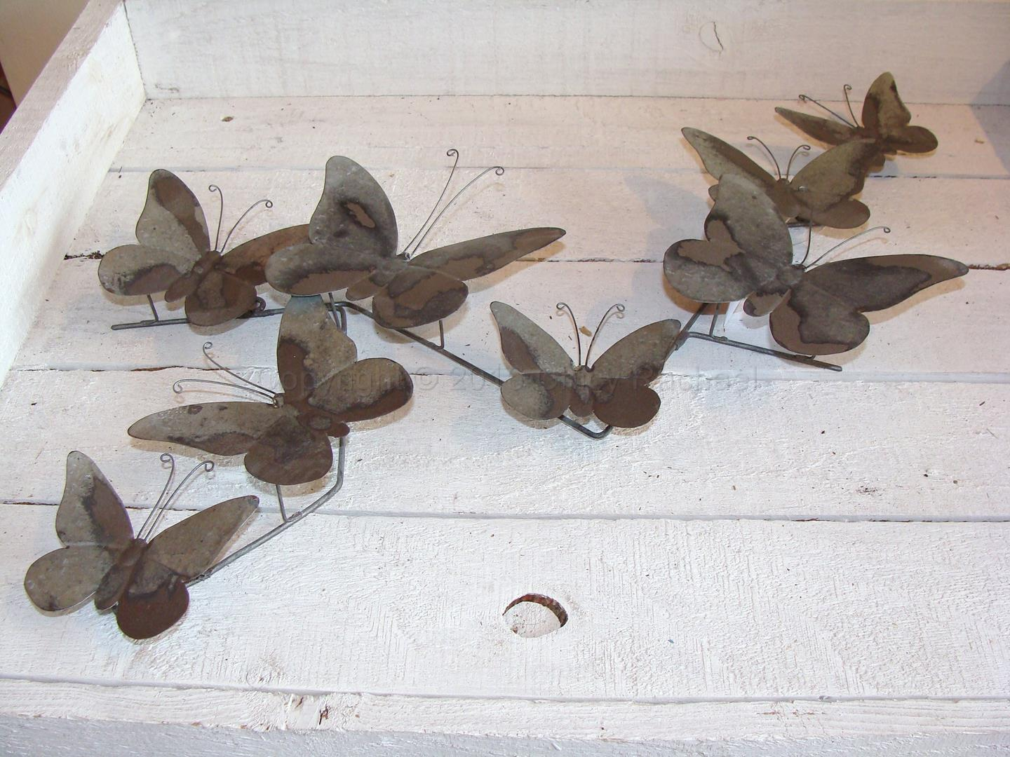 Grey Metal Butterfly Wall Art 1