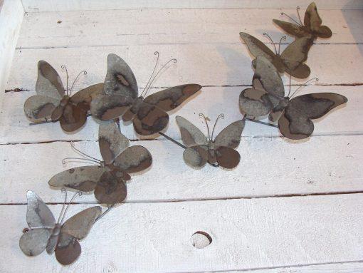 Grey Metal Butterfly Wall Art