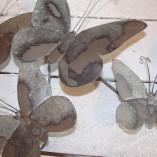 Grey Metal Butterfly Wall Art 3