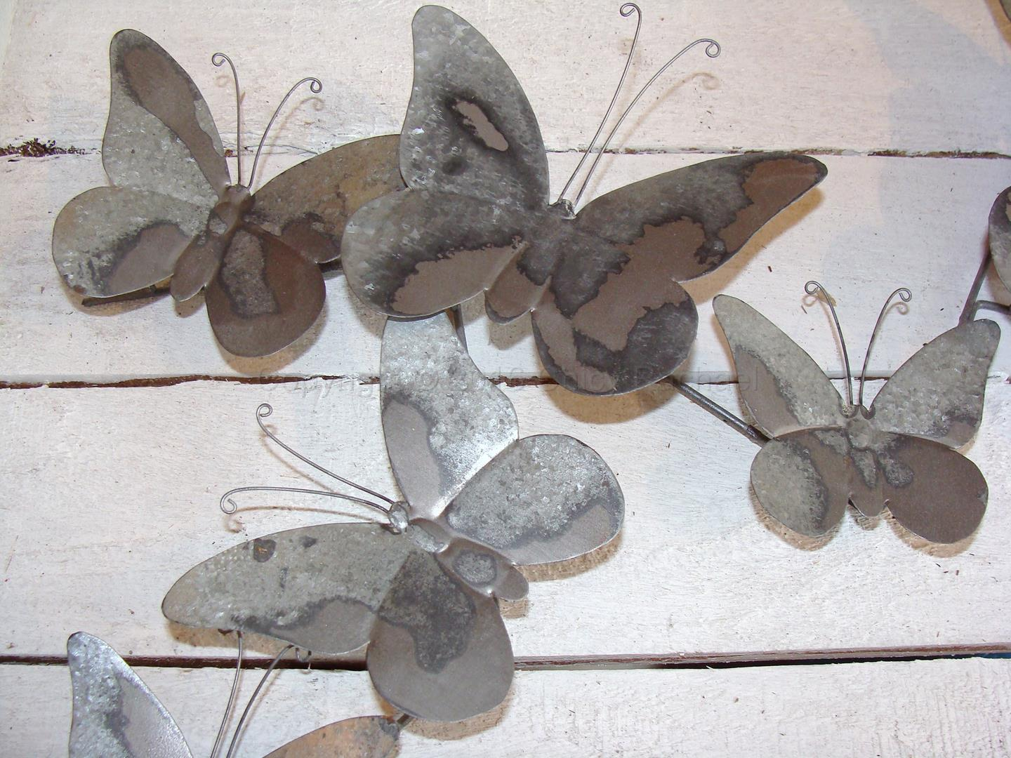 Grey Metal Butterfly Wall Art 2