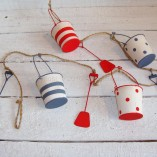 Blue, White And Red Buckets And Spades Garland