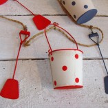 Blue, White And Red Buckets And Spades Garland 3
