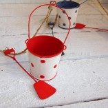 Blue, White And Red Buckets And Spades Garland 2