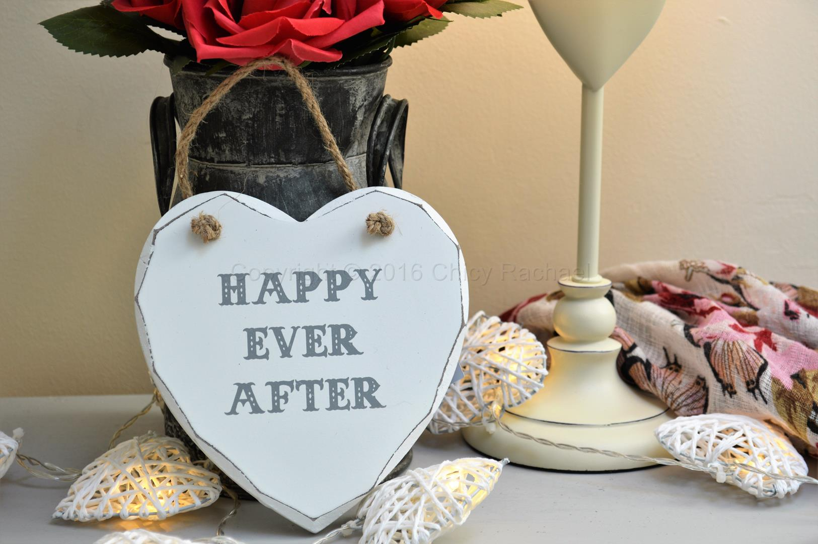 Happy Ever After Heart Plaque