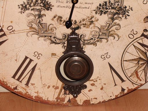 Large Cream Pendulum Wall Clock 2