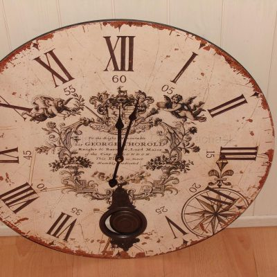 Large Cream Pendulum Wall Clock