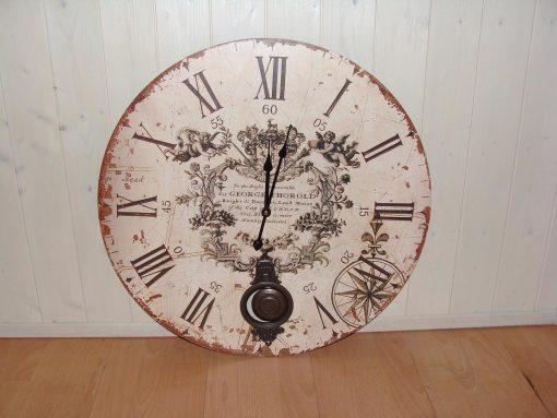 Large Cream Pendulum Wall ClockLarge Cream Pendulum Wall Clock 3