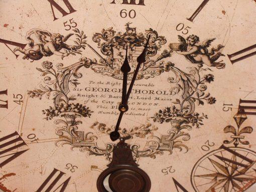 Large Cream Pendulum Wall Clock 1