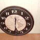 Large Black Framed Atlas Wall Clock 3