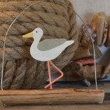 Hanging Seagull On Driftwood