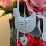 Hanging Metal Chicken Decoration
