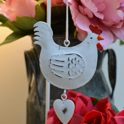 Hanging Metal Chicken Decoration