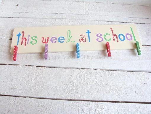 This Week At School Clip Board