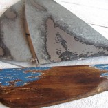 Tin And Wooden Yacht Wall Art 2