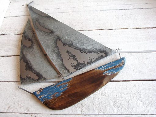 Tin And Wooden Yacht Wall Art 3