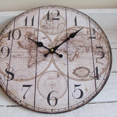 Small World Map Wall Clock