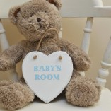 Baby Boy's Room Heart Shaped Plaque