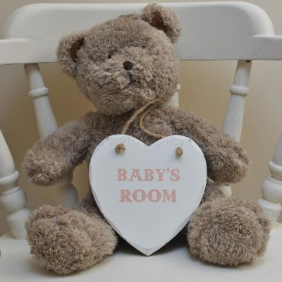 Baby Girl's Room Heart Shaped Plaque