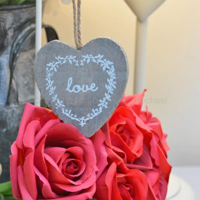 Hanging Grey Love Heart