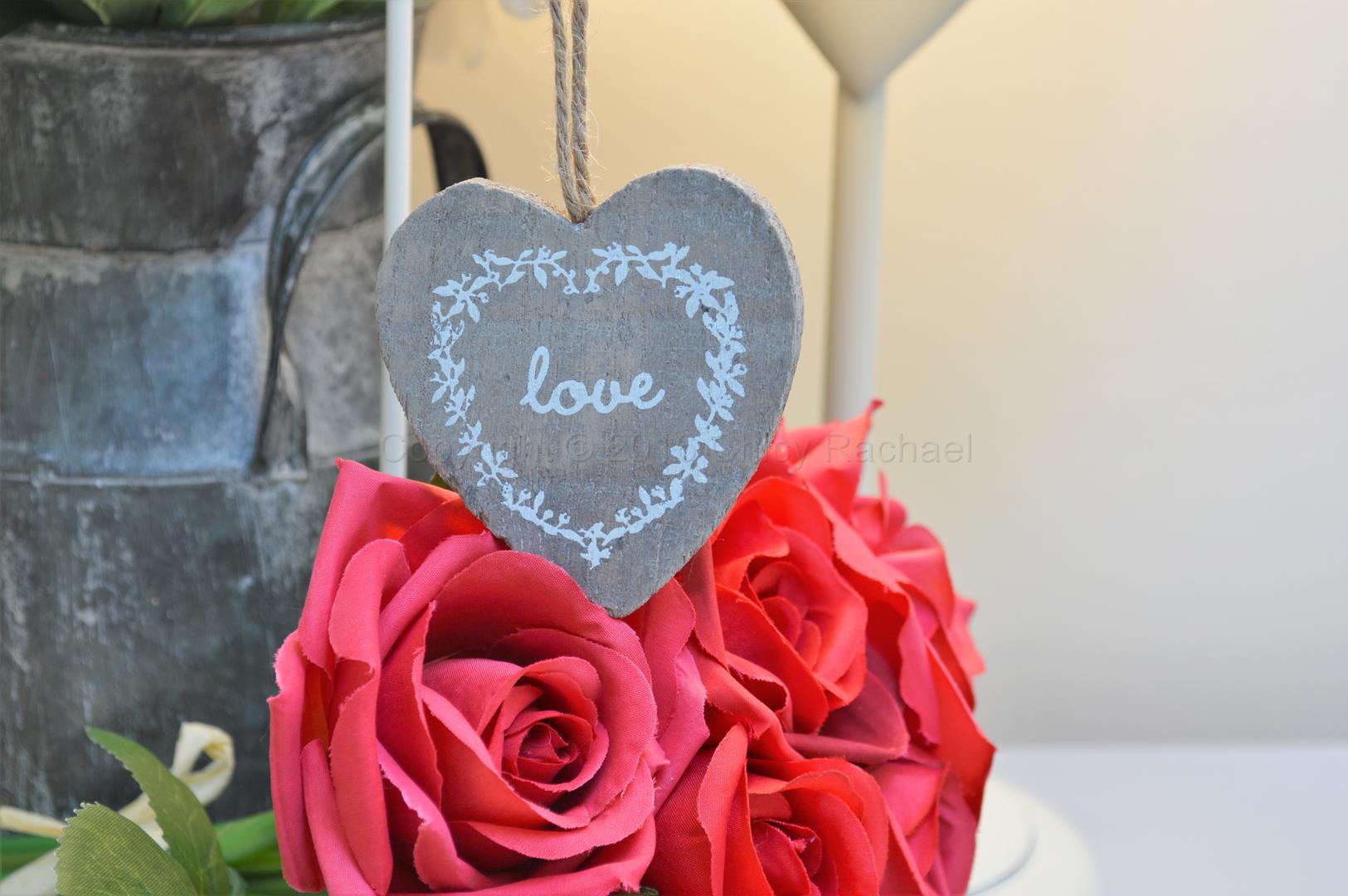 Hanging Grey Love Heart